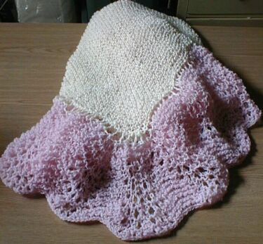 Feather Fan Baby Afghan